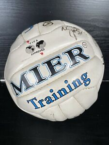 1990s OXFORD FC Team Signed Football - Fifa Approved MIER TRAINING BALL Read Des