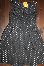 NWT Gymboree Party Plaid Size 5 Black Silver Dot Ruffle Holiday Dress