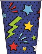 Boys Birthday Party Superhero Comics Paper Drinking Cups 250ml Favours 8pk