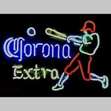 "New Corona Extra Play Baseball Bar Beer Man Cave Neon Light Sign 20""x16"""