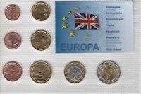 HOLY ISLAND ENGLAND PROBE PATTERN ESSAI 8 DIF SET 0.01 - 2 EURO 2013 YEAR