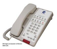 (8) Beige or Black Hotel Motel Guest Room Phones Analog Speaker Message Lamp Ada