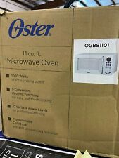 NEW Oster Digital Microwave 1.1 Cu. Ft. Kitchen Countertop White OGB81101