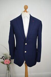 HACKETT x LORO PIANA Navy Hopsack Sport Jacket £625 Size 40R/50 Mr Porter Blazer