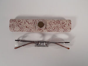 READING GLASSES FOSTER GRANT FLORAL BROWN 76