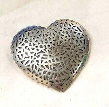 JAMES AVERY Open Lattice Heart Pin Brooch Sterling Silver  RETIRED