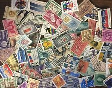 [Lot C] 100 Different United States (Us-Usa) Stamps. About 50% Commemoratives