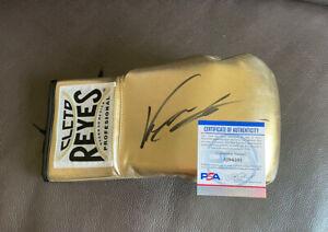 Ryan Garcia Signed Gold Cleto Reyes Boxing Glove Psa/Dna Coa ~ Right Hand