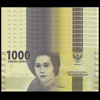 INDONESIA P 154 P154 UNC BUDLE LOT of 100 Banknotes Notes 1000 Rupiah 2016
