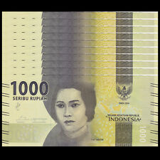 Lot 10 PCS, Indonesia 1000 Rupiah, 2016/2017, P-NEW, UNC New Design