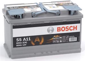 Batterie auto S5A11 12V 80Ah / 800A BOSCH AGM START-STOP L4 F21