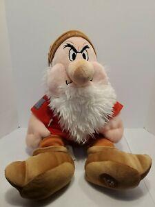 "Grumpy 15"" Stuffed Plush Disney Store Snow White & the Seven Dwarfs"