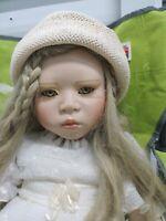 "Christine Orange  26""  Porcelain Doll  limited edition 7/1000 Blonde doll RARE"