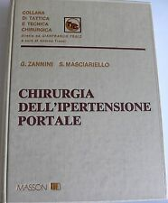 ZANNINI MASCIARIELLO CHIRURGIA DELL'IPERTENSIONE PORTALE MASSON 1981