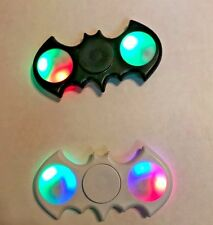 2x  LED Batman Bat Fidget Hand Spinner relief  Stress Reducer Finger Black White