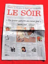 Tintin dans la Presse. LE SOIR un jeune garçon au coeur pur. 2004