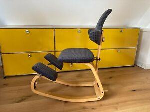 Orig. STOKKE Varier Thatsit Balans mit Rückenlehne Kniestuhl Schreibtischstuhl