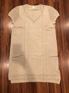 New Garnet Hill Linen & Organic Cotton High-Low-Hem Dress sz XL