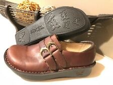 Alegria Alli ALL-662 Womens Brown Leather Double Buckle Shoes sz 36/5.5-6