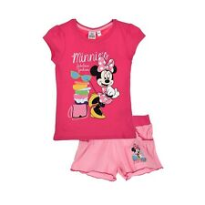 DISNEY ensemble MINNIE t-shirt + short  3 4 6 ou 8 ans rose NEUF