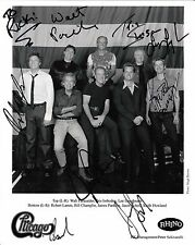 Chicago band x8 signed original promo photo / autograph inscribed to Rick