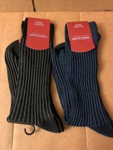 Marcoliani Milano Men's Ribbed Pima Cotton Socks Striped reversible