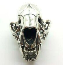 Huge Badger Skull Mens Sterling Silver 925 Pendant 107g  KOI723