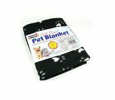 Small Soft Warm Fleece Paw Print Pet Car Blanket Dog Puppy Cat Bed 70 x 70 cm