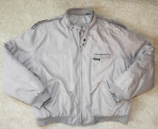Vintage Members Only Khaki Beige Quilted Jacket, Size L