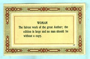"""1st of 2 Vintage, """"WOMAN...The fairest work of the great Arthur: the Edition..."""""""