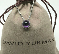 DAVID YURMAN Chatelaine Pendant Necklace Amethyst in Sterling Silver