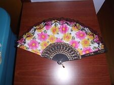 (New) Lovely White Spanish Style Silk-Pink/Yellow Flowers