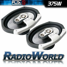 "FLI FI9 6x9"" 3 way Car Coaxial Door / Parcel Shelve / Dash Speakers 750W Pair"