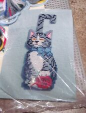 Design Works CAT'S IN CAT'S OUT Wall Hanging Plastic Canvas Kit