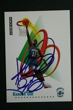Kendall Gill Charlotte Hornets Signed 1991 Skybox #27 Autographed NBA Card
