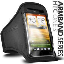Fascia braccio Sport per HTC ONE S bracciale Armband fitness corsa Nera