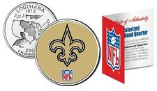 NEW ORLEAN SAINTS Officially Licensed NFL Louisiana US State Quarter Coin w/COA