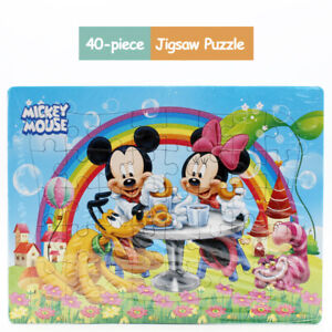 Hot New Disney 40 Pieces Mickey & Minnie Jigsaw Puzzle Best Gifts for Kids