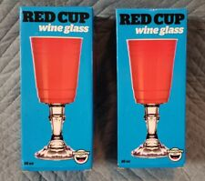 Big Mouth Red Solo Cup Wine Beer Glass 16 oz (2)