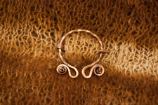 copper brooch,ouch,hammered