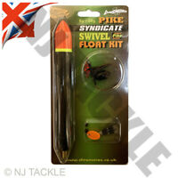 Pike Fishing SWIVEL Float Kit set Including Trace  Hooks Dinsmores Zander Perch