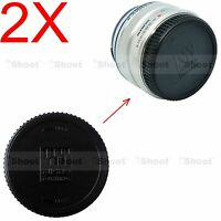 2x Rear Lens Cap Cover for Panasonic Micro 4/3 Four Thirds H-HS H-X H-F series