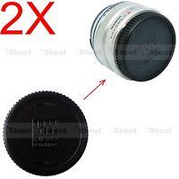 2x Rear Lens Cap Cover for Olympus Micro 4/3 M.Zuiko Digital 60/2.8M, 8/1.8