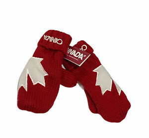 Hudson's Bay Olympic Mittens Pair Canada Maple Leaf Christmas Stockings HBC NWT