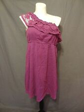 Lane Bryant crochet purple One Shoulder dress plus size 22/24 casual knee length
