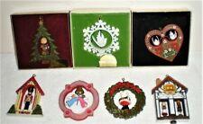 7 Hallmark Twirl-About Christmas Ornaments Soldier Angel Dove Heart Santa House