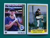1989 Upper Deck DALE MURPHY & 1982 Fleer JOHN LITTLEFIELD Error REPRINT Card Lot