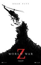 WORLD WAR Z ORIGINAL Advance DOUBLE SIDED MOVIE FILM POSTER 69x102cm Zombies