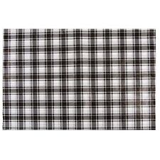 """Black White Buffalo Plaid Check Tissue Paper 10 Large Sheets 20"""" by 26"""""""
