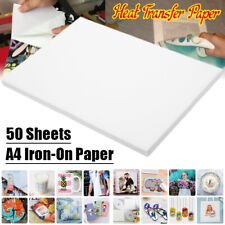 50Pcs Sublimation Transfer Paper Inkjet Print Heat Transfer Paper Iron-On Paper